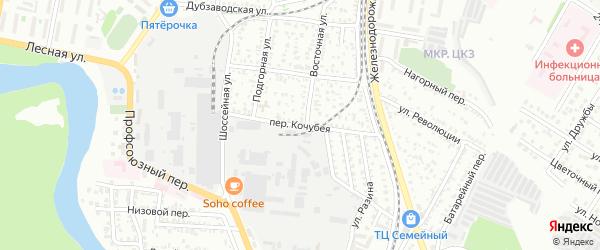 Переулок Кочубея на карте Майкопа с номерами домов