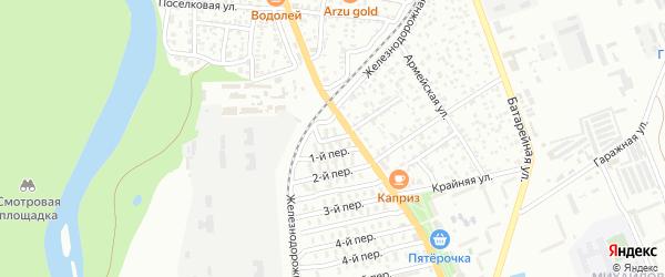 1-й переулок на карте Майкопа с номерами домов