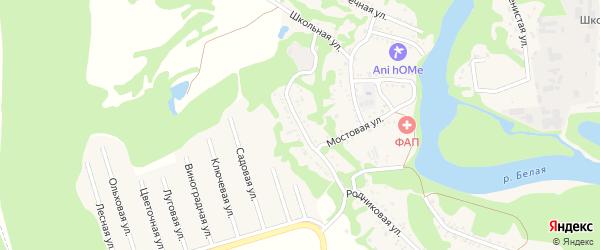 Подгорная улица на карте хутора Грозного (побединского с/п) Адыгеи с номерами домов