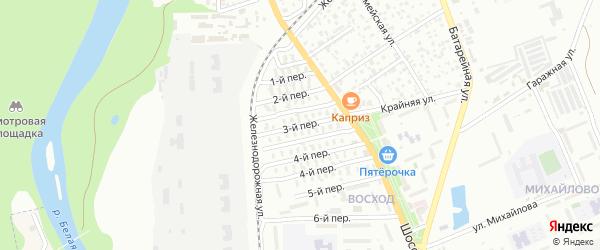 3-й переулок на карте Майкопа с номерами домов