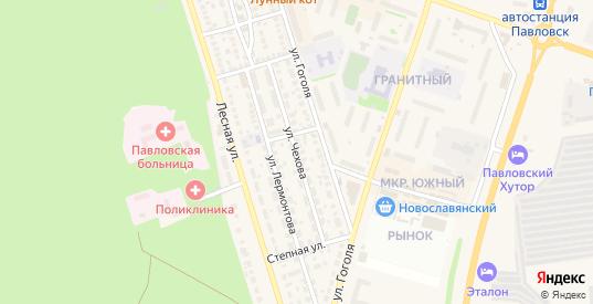 Улица Чехова в Павловске с номерами домов на карте. Спутник и схема онлайн