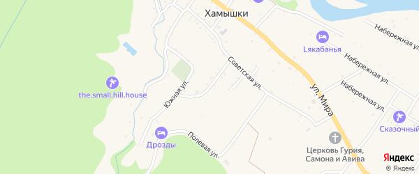 Колхозная улица на карте села Хамышек Адыгеи с номерами домов