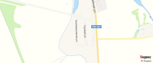 Кооперативная улица на карте хутора Калинина Адыгеи с номерами домов