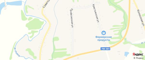Профсоюзная улица на карте Келермесской станицы Адыгеи с номерами домов