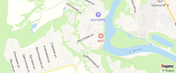 Мостовая улица на карте хутора Грозного (побединского с/п) Адыгеи с номерами домов