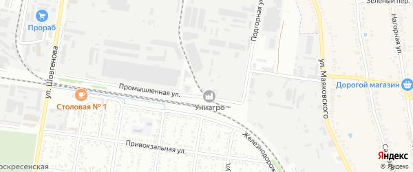 Промышленная улица на карте Коммунальник-2 с номерами домов