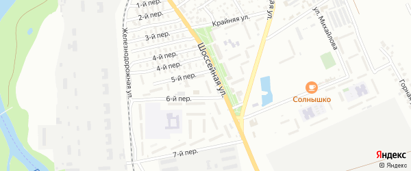 Улица Кавказ на карте Восхода с номерами домов