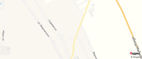Октябрьская улица на карте хутора Северо-Восточные Садов Адыгеи с номерами домов