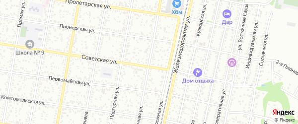 Восточная улица на карте Пищевик-1 с номерами домов