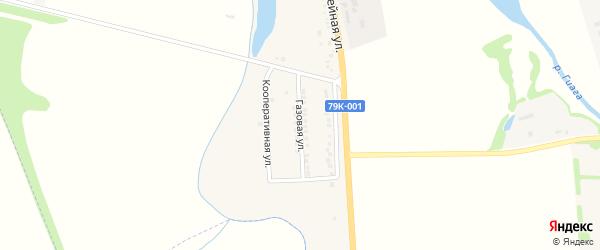 Газовая улица на карте хутора Калинина Адыгеи с номерами домов