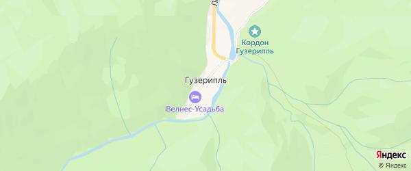 Карта поселка Гузерипля в Адыгее с улицами и номерами домов
