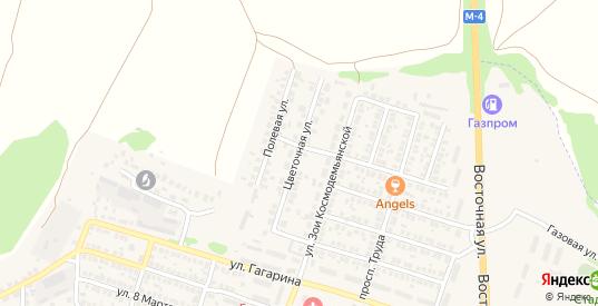 Цветочная улица в Павловске с номерами домов на карте. Спутник и схема онлайн