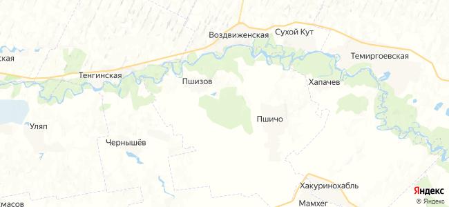 Лесхозный на карте