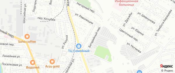 Октябрьский переулок на карте Майкопа с номерами домов