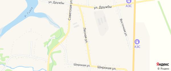 Лесная улица на карте Келермесской станицы Адыгеи с номерами домов