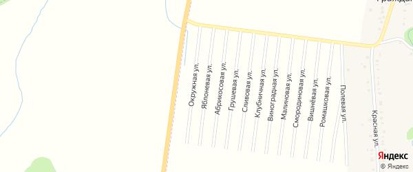 Яблоневая улица на карте садового некоммерческого товарищества Малиновки Адыгеи с номерами домов