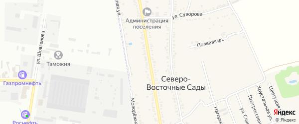 Улица Маяковского на карте хутора Северо-Восточные Садов с номерами домов