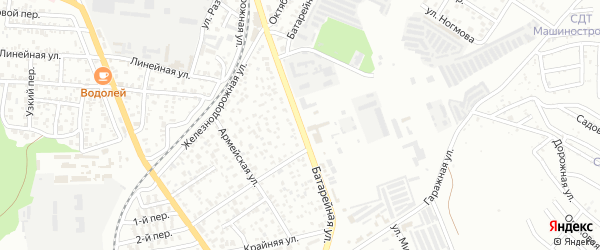 Батарейная улица на карте Майкопа с номерами домов