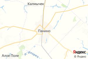Карта пгт Панино