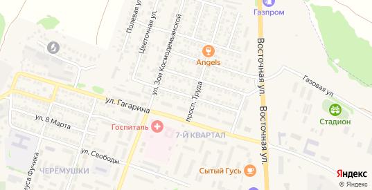 Солнечная улица в Павловске с номерами домов на карте. Спутник и схема онлайн
