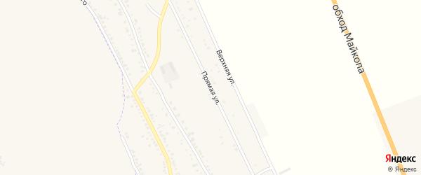 Прямая улица на карте хутора Северо-Восточные Садов Адыгеи с номерами домов