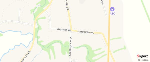 Широкая улица на карте Келермесской станицы Адыгеи с номерами домов