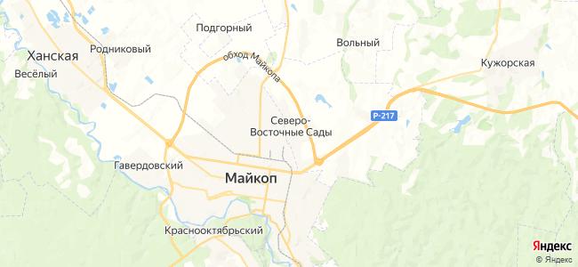 Северо-Восточные Сады на карте