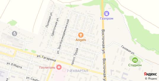 Проспект Труда в Павловске с номерами домов на карте. Спутник и схема онлайн