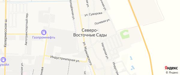 Карта хутора Северо-Восточные Садов в Адыгее с улицами и номерами домов