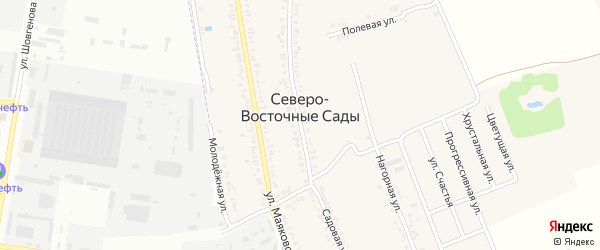 Хрустальная улица на карте хутора Северо-Восточные Садов Адыгеи с номерами домов