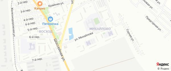 Улица Михайлова на карте Майкопа с номерами домов