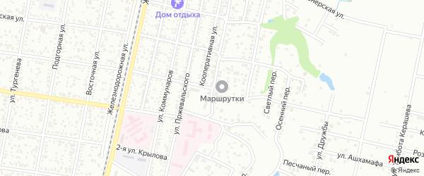 Комсомольская 2-я улица на карте Майкопа с номерами домов
