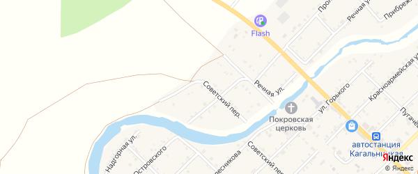 Западная улица на карте Кагальницкой станицы Ростовской области с номерами домов
