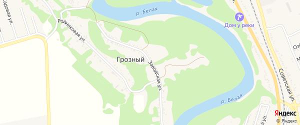 Заводская улица на карте хутора Грозного (побединского с/п) Адыгеи с номерами домов