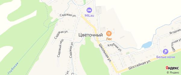 Дорога А/Д Подъезд к п. Цветочный на карте Цветочного поселка Адыгеи с номерами домов