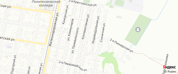 Пионерская 2-я улица на карте Майкопа с номерами домов