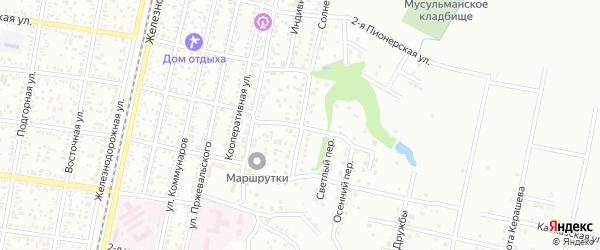 Солнечный переулок на карте Майкопа с номерами домов