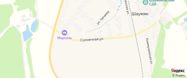 Солнечная улица на карте Причтовского хутора Адыгеи с номерами домов