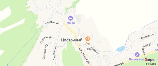 Северная улица на карте Цветочного поселка Адыгеи с номерами домов