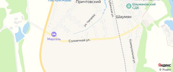 Казачий переулок на карте Причтовского хутора Адыгеи с номерами домов
