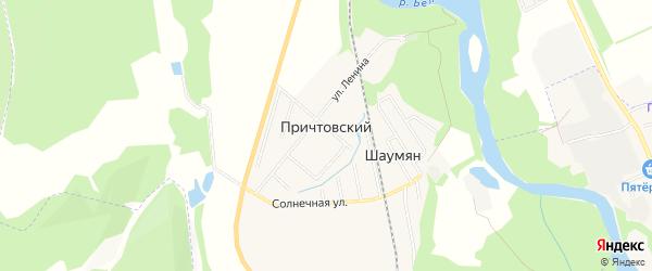 Карта Причтовского хутора в Адыгее с улицами и номерами домов