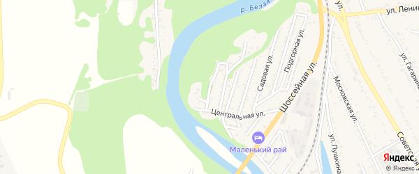 Речная 2-я улица на карте Совхозного поселка Адыгеи с номерами домов
