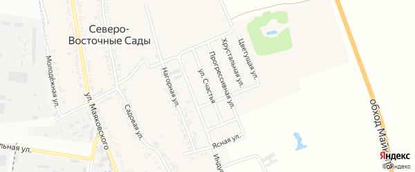 Счастья улица на карте хутора Северо-Восточные Садов Адыгеи с номерами домов