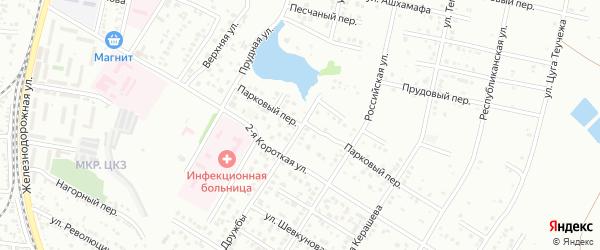 Улица Дружбы на карте Майкопа с номерами домов
