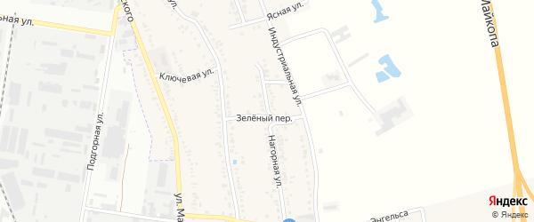 Нагорная улица на карте Майкопа с номерами домов