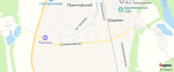 Улица Надежды на карте Причтовского хутора Адыгеи с номерами домов