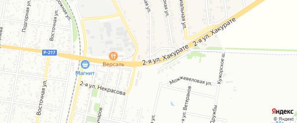 Хакурате 2-я улица на карте Майкопа с номерами домов