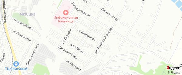 Улица Шевкунова на карте Майкопа с номерами домов