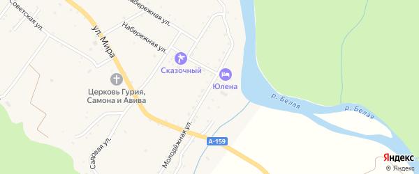 Молодежная улица на карте села Хамышек Адыгеи с номерами домов