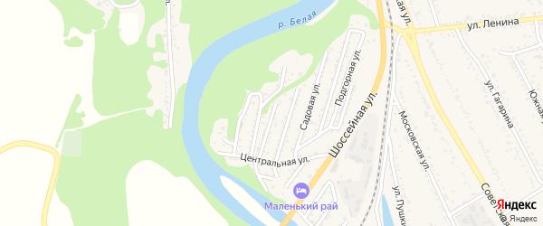 Урожайная улица на карте Совхозного поселка Адыгеи с номерами домов
